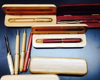 Personalized Office Set -  Pen, Mechanical Pencil or Letter Opener with matching case