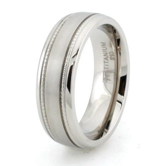 titanium ring band size 9 classic wedding engraved