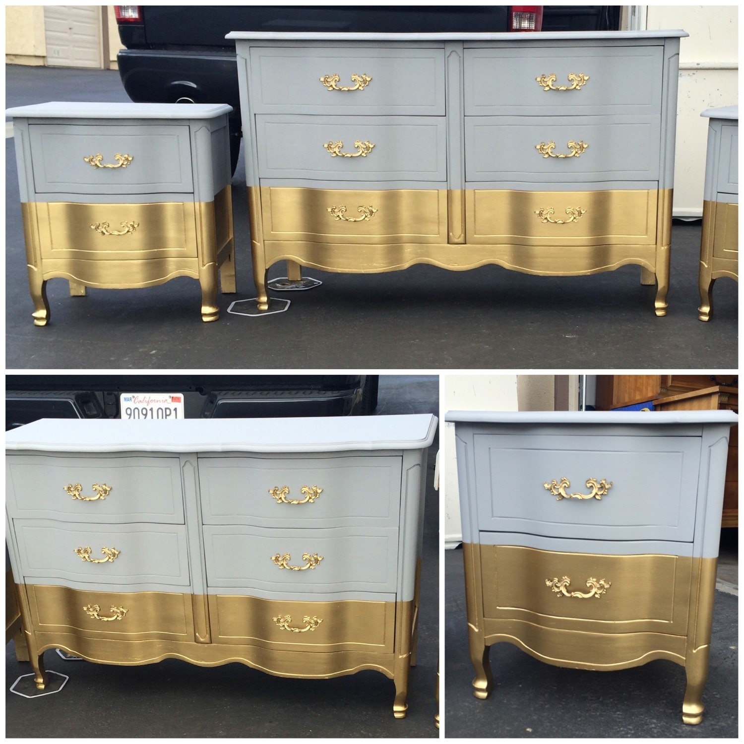 Six drawer french provincial dresser nightstands changing for French provincial bedroom furniture