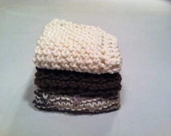 Dish Cloth Trio - Cream, Mocha, and Variegated