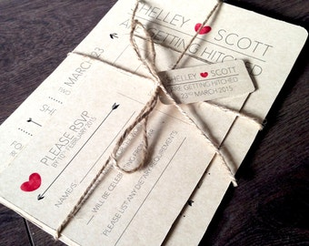 Custom Printable Wedding Invitation Set - vintage calendar design