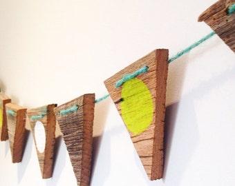 Re-claimed hardwood flagging