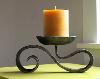 Spiral Candle Holder for a pillar candle, iron, wedding, anniversary gift