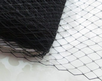 Black Russian Birdcage Veiling / Birdcage Veil Material / Diy birdcage veil /  9 inch veiling