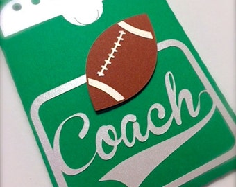 Football Coach Gift Card Holder