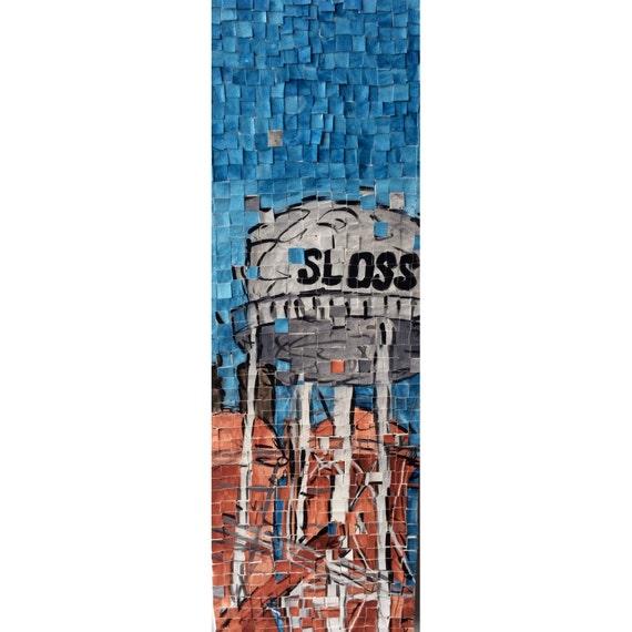 "Birmingham Alabama- Sloss Furnaces - Architectural Art: 8""x24"" Original Painting"