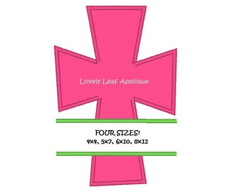 DIGITAL ITEM: Split Cross Applique Design 4 Sizes
