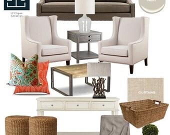 Interior Design Services | Complete Design Package, E-Design, Mood Board