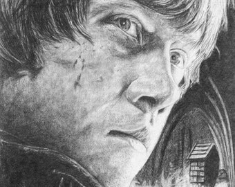 8 x 10 Graphite Drawing Ron Weasley from Harry Potter