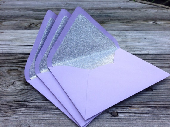 items similar to a7 5x7 purple and silver glitter lined