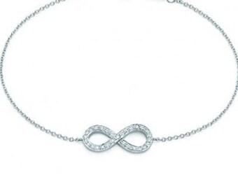 necklace silver infinity valentine