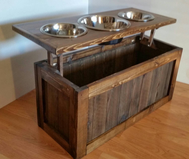 Elevated Dog Bowl Food Storage