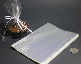 Clear Polypropylene 'Cellophane' Favor Treat Candy Bags 5 x 7""