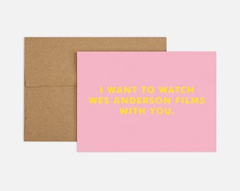Wes Anderson Greeting Card