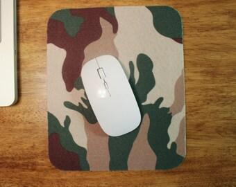 Camo Mouse Pad - Wool Felt Mousepad