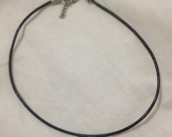Plain Black Faux Leather Choker Cord