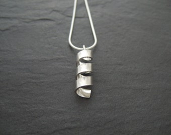 Sterling silver spiral pendant