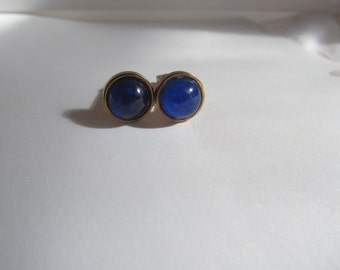Vintage midnight blue  cufflinks