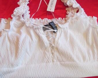 Ladies  / woman  size  L  -  sleveless   white   T Shirt   new