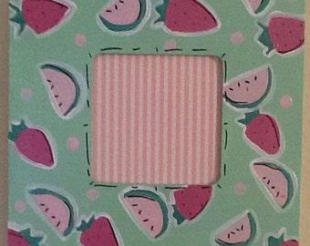 Watermelon frame, strawberry frame, sibling frame, nursery frame, family frame, fruit frame, newborn frame, baby frame