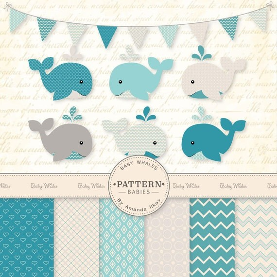 clipart baby shower whale - photo #27