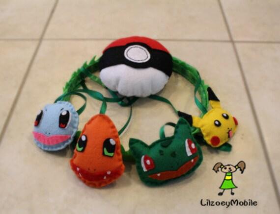pokemon baby crib mobile nursery decoration pokeball squirtle