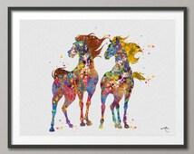 Spirit The Wild Mustang Horse illustrations Art Print  Wall Wedding Gift Poster Giclee Wall Decor Art Home Decor Wall Hanging No [NO 175]