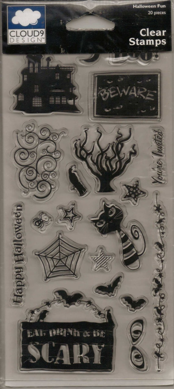 Cloud9 design halloween fun clear stamps by scrappintreasures for Cloud 9 architecture