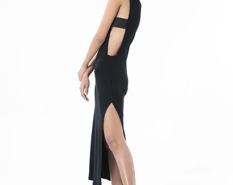 The Cold Front Dress (Black) - Maxi Dress