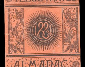 1884 Lowell Courier Almanac Magazine