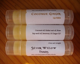 Coconut Ginger Lip Balm - .15oz