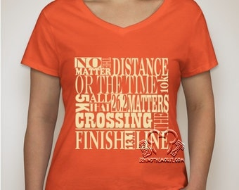 Ladies Crossing The Finish Line  T-Shirt