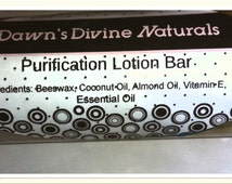 Purification  handmade lotion bars. These lotion bars are made with essential oils for healing the mind  Comes in a 2.5 FL Oz twist up tube