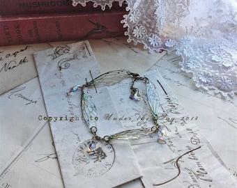 """Pretty """"Faerie wing linked bracelet"""""""