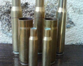 WW2 Brass Bullet casing 1943 x 7
