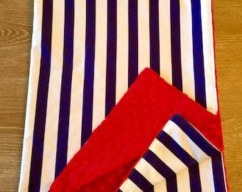 New Stripes Minky Baby Blanket