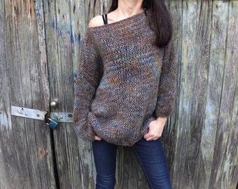 Women mohair sweater/ Handknit  sweater /  Cozy Sweater/Soft wool sweater