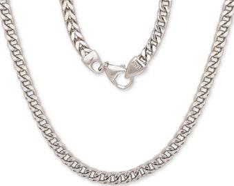 Franco Italian Chain .925 Sterling Silver Chain / 5 mm