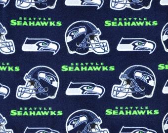 Seattle Seahawks NFL Fleece Fabric - By the yard