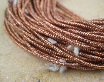 Copper Tiny Heishi Beads From the Villages of Ethiopia! African Metal Beads - Copper Spacers - Wholesale African Beads - Copper Beads 209