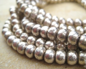 Round Silver Beads  From the Villages of Ethiopia! African Metal Beads - Silver Spacers - Wholesale African Beads - Silver Beads 251