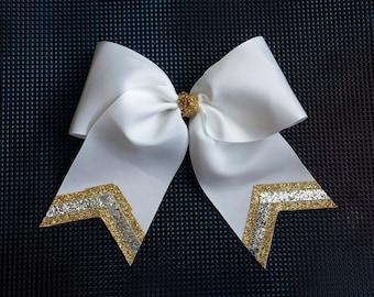 White Triple Sparkle Bow