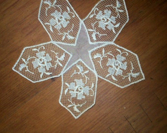 Antique doily wedding or tabletop 1920s