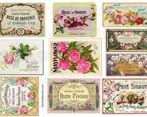 10 Furniture water slide decals shabby chic french image transfer vintage perfume soap style labels arts crafts scrapbooking card making