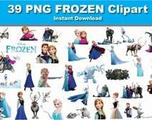 INSTANT DL- 39 PNG Disney Frozen Clipart - printable Digital Clipart Graphic Instant Download