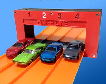 4-Lane Electronic Finish Line (For Hot Wheels Toy Cars & Tracks) Raceway Gate