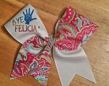 bye Felicia cheer bow pink cheer bow fun cheer bow cheer bow cheerleader