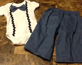 Infant pin striped outfit