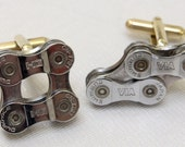 Upcycled Shimano DuraAce Double Bike Chain Cufflinks