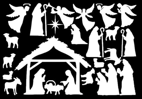 Window Cling Decorations nativity window clings reusable manger scene window